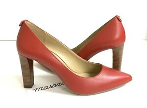 Women MK Michael Kors Abbi Flex Pump Shoes Leather Flame Red