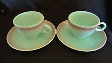 2 Sets Taylor Smith Taylor Versatile green MINT & SPICE Coffee Cups & Saucers