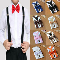 Children Adjustable Suspender and Bow Tie Set for Baby Toddler Kids Boy Girls