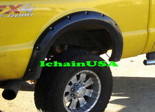 08-10 FORD F-250 SUPER DUTY RIVET BOLT POCKET STYLE ABS FENDER FLARES - DISPLAY