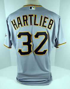 2020 Pittsburgh Pirates Geoff Hartlieb #32 Game Issued Grey Jersey 865