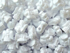 Pearl White Angel Beads made n USA for Christmas Winter Holiday Crafts Beading