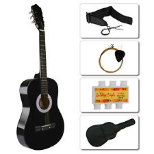 Beginners Acoustic Guitar with Guitar Case, Strap, Tuner & Pick Steel Strings