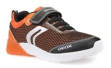 Geox J Sveth B Light Up Boys Black/Orange Trainers - 100% Positive Reviews