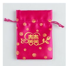 Wholesale10PCS Chinese Silk Satin Drawstring Candy Gift Pouchs Bags Jewelry Bags