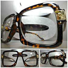 a31b162f32 CLASSIC VINTAGE 70s RETRO PARTY Style Clear Lens EYE GLASSES Tortoise Gold  Frame