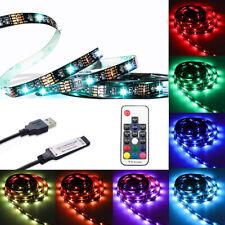Multi Color USB RGB LED Strip Lights TV Backlight 5V + RF Remote Control