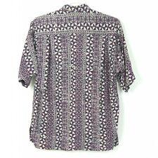 Vintage NOA NOA  Short Sleeve Button Down Purple Hawaiian Shirt Men's Large XL