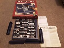 Vintage OVERTURN Game 1988 Coleco Games Complete Word Game Twist (Scrabble Type)