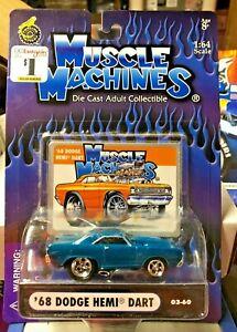 '68 DODGE HEMI DART MUSCLE MACHINES #003-60 BLUE