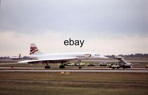 35mm Aircraft Slide- View of British Airways Concorde Plane G-BOAG @ MIA