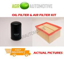 PETROL SERVICE KIT OIL AIR FILTER FOR PEUGEOT 307 SW 2.0 136 BHP 2002-05