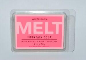 1 BATH & BODY WORKS WHITE BARN FOUNTAIN COLA WAX MELT MELTS TART CANDLE 2OZ SODA