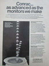 3/1972 PUB CONRAC MONITORS NASA SKYLAB APOLLO TELESCOPE CRT DISPLAY ORIGINAL AD