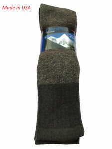 """DanPro Men's OUTDOOR WOOL SOCKS """" Over The Calf & Heavy Duty """" Made in USA"""