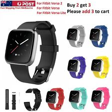 For Fitbit Versa 1 / Versa 2 / Lite Replacement Band Silicone Strap Wristband