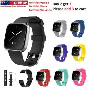 For Fitbit Versa 1 2 Lite Replacement Band Silicone Strap Wristband
