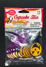 (7) Cake Mate Cupcake Stix Halloween 12 Count Bags of Ghosts & Pumpkins 84 Total