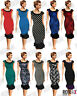 New 50s Vintage Rockabilly Pinup Retro Fishtail Party Wiggle Button Pencil Dress