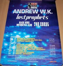 ANDREW W.K. LOSTPROPHETS THE CORAL 'N.M.E. CARLING AWARDS' U.K. TOUR POSTER 2002
