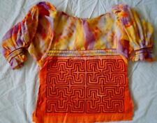 Kuna Indian Machine-Stitched Classic MoIa Blouse-Panama 18040313L