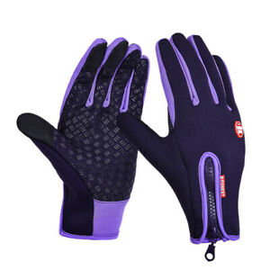 Winter Ski Cycling Gloves MTB Bicycle Outdoor Camping Hiking Full Finger Warm