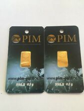 GOLDBAR  0,10 Gram PIM / Gold Bar  Münze / 0,1g