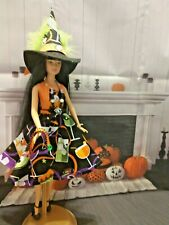 BARBIE SILKSTONE ARTICULATED DOLL FASHION CLOTHES HALLOWEEN WINE & CUPCAKES SET