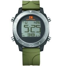 Hugo Boss Men's 1512675 Orange Digital Display Green Silicone Day/Date Watch NEW