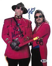 Jimmy Hart & The Mountie Jacques Rougeau Signed 8x10 Photo BAS Beckett COA WWE 1