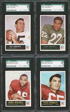 1965 PHILADELPHIA FOOTBALL CARDS ~ 4 FOUR DIFFERENT ~ SGC GRADED MINT 9 (96)