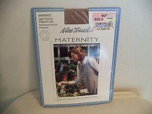 Nice Touch Maternity PantyHose. Nude. Size A. 82% Nylon/ 18% Lycra.