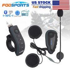 BT Intercom Motorcycle Bluetooth Moto Headset Helmet Interphone Remote 1200M V8