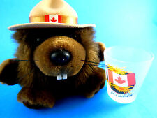 Canada Corporal Flapjack Jr Animal House Beaver Plush plus Frosted Shot glass