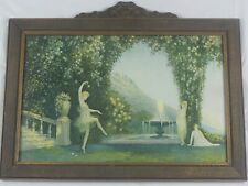 Antique Original 1926 Art Deco Lithograph Enchantment by George Hacker Listed