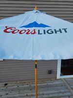 COORS LIGHT 7 foot BEER PATIO UMBRELLA MARKET STYLE HUGE NEW