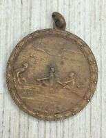 Vintage WWI Bronze The Great War Of Civilization Victory Medal