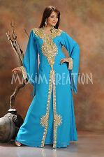 DUBAI VERY FANCY KAFTANS ABAYA JALABIYA LADIES MAXI DRESS NEW WEDDING GOWN 3455
