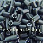 500 4mm Black Copper Silicone Tube Micro Rings for I Bonded Tip Hair Extensions