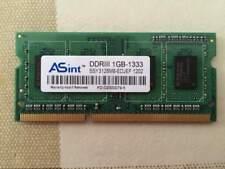 ASint 1GB DDR3 SO-DIMM 204pin PC3-10600S SSY3128M8-EDJEF