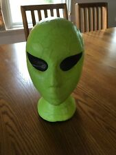 Decoupage Collage Store Display Alien Head Hat Wig Holder Stand Mannequin SciFi