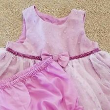 DARLING! NEW HOLIDAY EDITIONS 0-3 MONTH 2PC PURPLE RUFFLE DRESS W/BLOOMERS