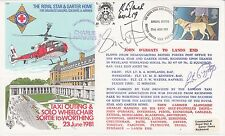 C87d Re - carried John O'Groats to Land's End Signed Simon Weston, Lester Piggot