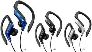 JVC HA-EB75 Sports Ear-Clip Headphones Assorted Colors Blue,Black Silver New!