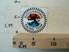 STICKER,DECAL DUTCH NATIONAL  RACING TEAM A NOT 100 % OK