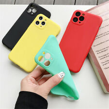 For iPhone 11 Pro Max X XS XR 7 8 Candy Color Soft TPU Silicone Phone Case Cover