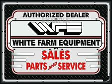 WHITE FARM EQUIPMENT TRACTOR DEALER NEON EFFECT BANNER SIGN ART MURAL 4' X 3'