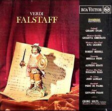 """VERDI """"FALSTAFF"""" (RCA ITALIANA OPERA ORCH/CHORUS/GEO.SOLTI) 3 LP PREMIUM USED LP"""