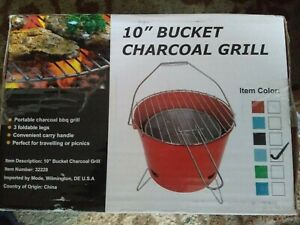 """10"""" Bucket Charcoal Grill portable fast shipping from Texas"""