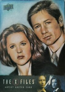 The X-Files Artist Proof Sketch Card By Huy Truong for Upper Deck